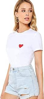 Best heart print shirt womens Reviews