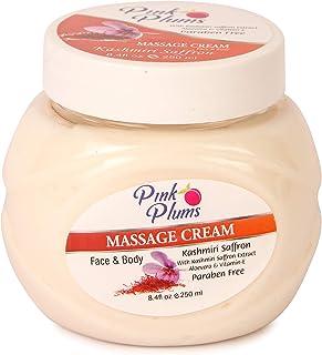 PINK PLUMS Glowing Kashmiri Saffron Massage Cream with Vitamin-E, 250 ml