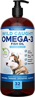 PetHonesty 100% Natural Omega-3 Fish Oil for Dogs from Iceland - Omega-3 for Dogs - Pet Liquid Food Supplement - EPA + DHA...