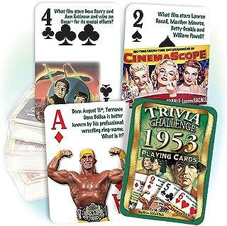 Flickback Media, Inc. 1953 Trivia Playing Cards: Great Birthday