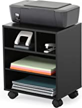 FITUEYES Mobile Printer Stand with Organizing Storage Adjustable Work Cart with Wheels PS404001WB