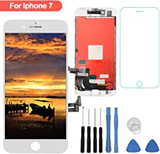 for iPhone 7 Screen Replacement - LCD Digitizer Touch Screen Assembly Set with 3D Touch Compatible with iPhone 7 Screen Only (White)