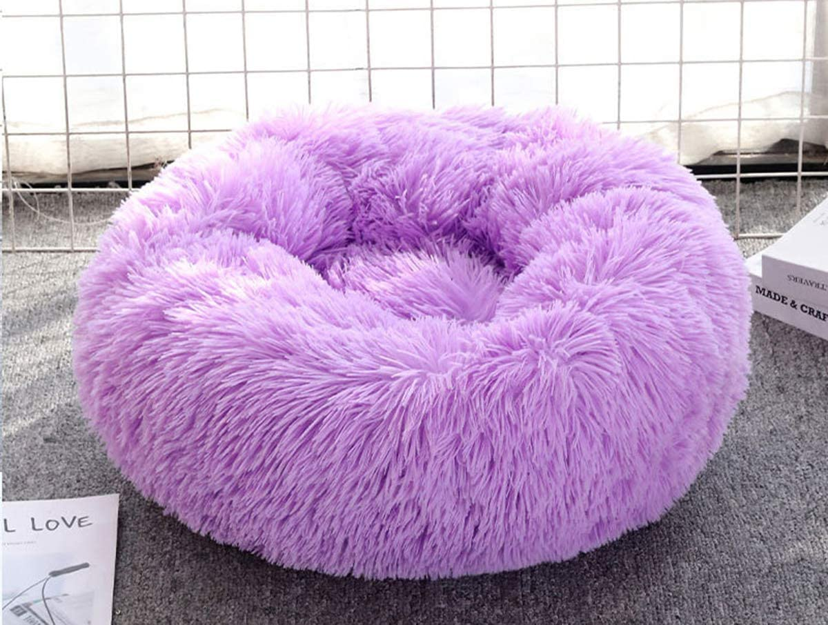 ping bu Cama calmante para perros cama peluda para mascotas peque/ñas mullida acogedora cama con parte inferior antideslizante de felpa medianas y grandes para mascotas ultrasuave