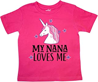 My Nana Loves Me Unicorn Toddler T-Shirt