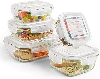 Juego de 3 tarros de cristal transparente organizador de alimentos apilable para cocina VonShef despensa y utilidad