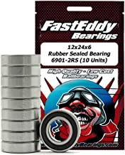 FastEddy Bearings 12x24x6 Rubber Sealed Bearing 6901-2RS (10 Units)