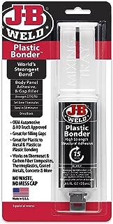 J-B Weld 50139 Plastic Bonder Body Panel Adhesive and Gap Filler Syringe - Dries Black - 25 ml (2)