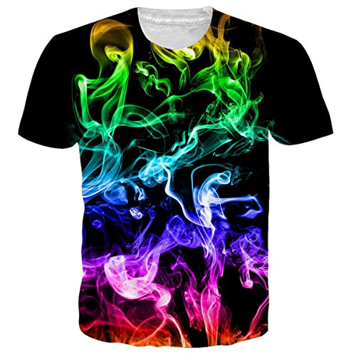 1d34edd80bef Uideazone Unisex 3D Pattern Printed Short Sleeve T-Shirts Funny Graphics  Tees