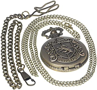 Vintage Hollow Flower Pattern Brass Antique Case Pocket Watch Open Face Fob for Men Women 1 PC Necklace 1 PC Clip Key Rib Chain