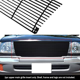 APS Compatible with 1998-2000 Toyota Tacoma Black Billet Grille Grill Insert S18-H36458T