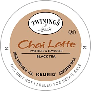 Twinings of London Chai Latte Tea K-cups for Keurig, 12 Count