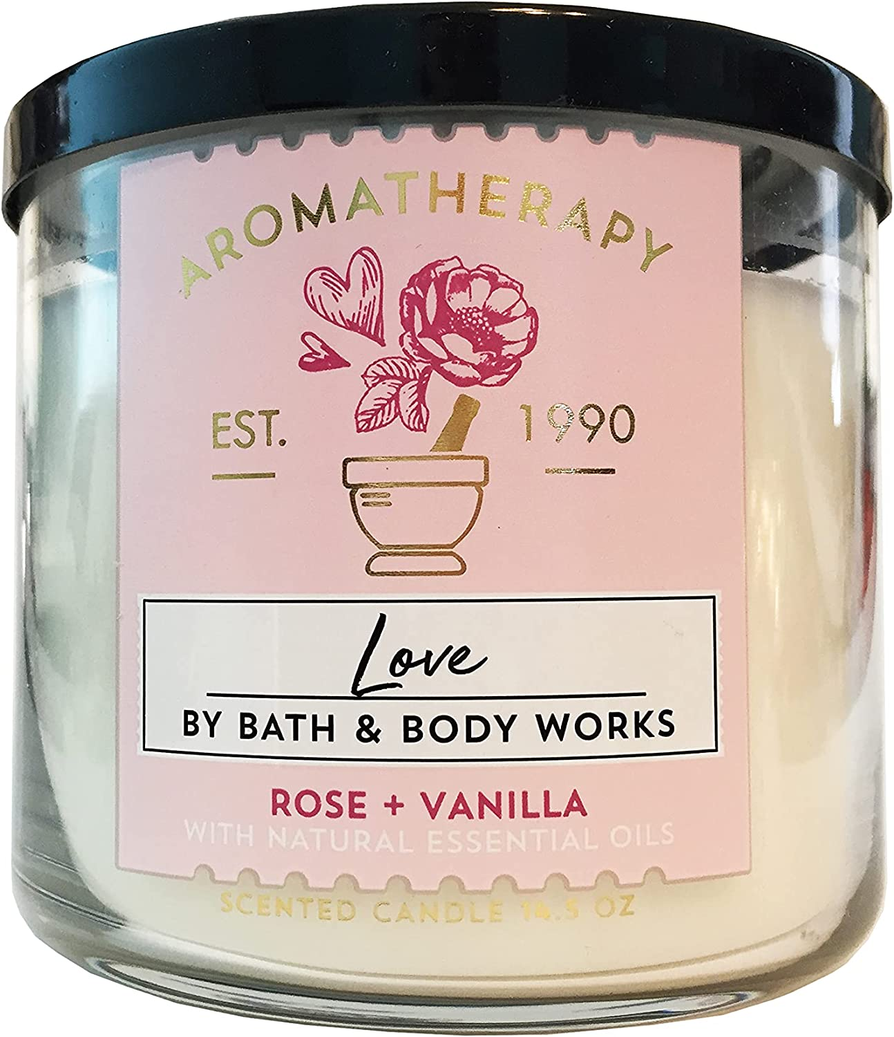 New life Bath Body Works 3-Wick Aromatherapy Popular ROSE — Candle in LOVE