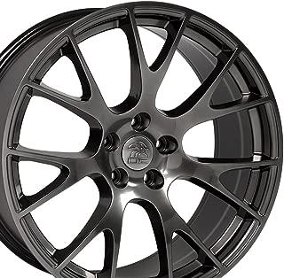 OE Wheels 22 Inch Fits Chrysler Aspen Dodge Dakota Durango Ram 1500 Hellcat Style DG69 Hyper Black 22x10 Rim