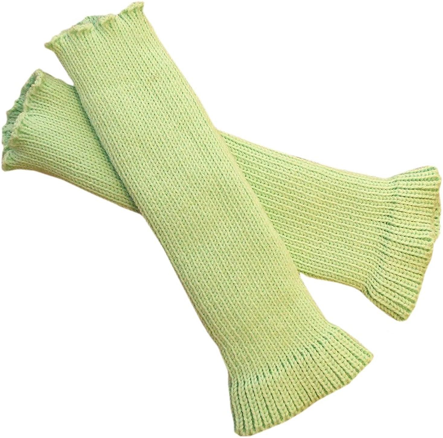 100% merino wool adult women arm warmers fingerless gloves knit