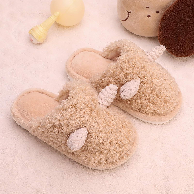 Kids Fuzzy Slippers MEMON Boys Animal Slippers Girls Fluffy Cute House Indoor Slippers