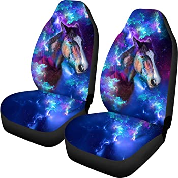 PZZ Galaxy Horse Print Baja Blanket Bucket Seat Cover for Car, Truck, Van, SUV - Airbag Compatible