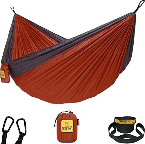 Wise Owl Outfitters Hammock Camping Double & Single with Tree Straps - USA Based Hammocks Brand Gear, Indoor Outdoor ...