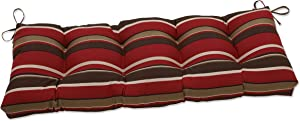 Pillow Perfect Outdoor/Indoor Monserrat Sangria Tufted Bench/Swing Cushion, 60