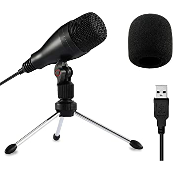 Moukey USB Computer Microphone, for Podcast, YouTube, Studio, Streaming, Gaming Recording (Windows/Mac) Plug&Play,Cardioid Condenser PC Mic with Tripod Stand -Mum-1