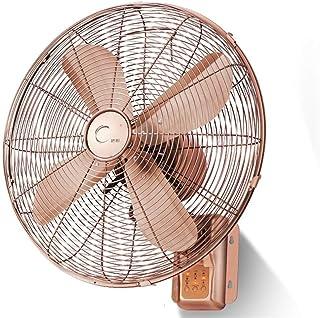 Wallfs Ventilador De Pared,16 Pulgadas Mute De Ahorro De Energía Familia Verano Oscilante Cobre Rojo Ventilador Montado En La Pared (Color : Remote Control)