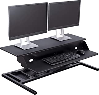 Stand Up Desk Store AirRise Power Pro Heavy-Duty Electric Two-Tier Standing Desk Converter/Sit Stand Desk - Turn Any Desk Into a Stand Up Desk/Adjustable Desk (Electric Adjustment | 42