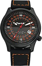 Forté Alpha Series Mens 24HR-ALPHA-00S 24 Hour Army Military Wristwatch with Black Silicone Strap-24