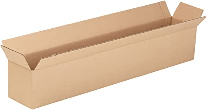 """Aviditi 3666 Long Corrugated Cardboard Box 36"""" L x 6"""" W x 6"""" H, Kraft, for Shipping, Packing and Moving (Pack of 25)"""