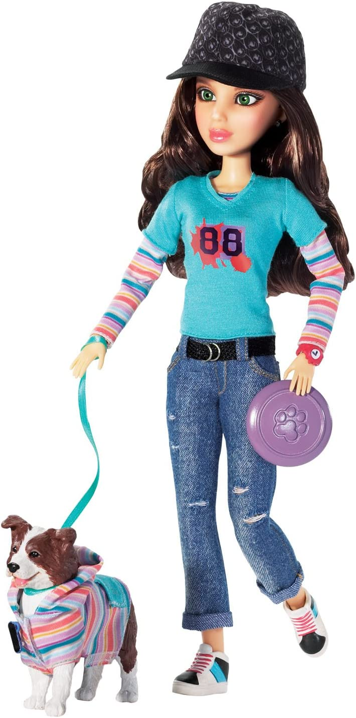 Liv Doll with Border Collie and Katie Pet Miami Mall Sk8 - Credence
