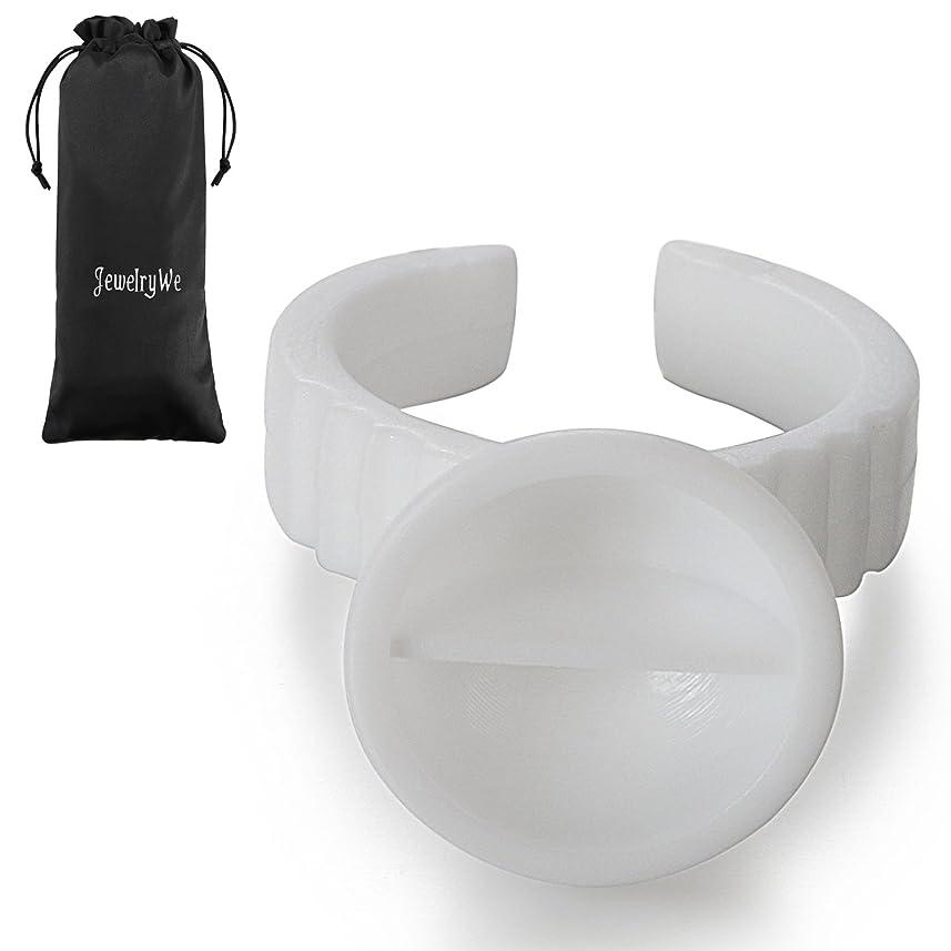 キウイ医薬ストレージJewelryWe グルーリング まつげエクステ 使い捨てタイプ 100個セット-[直径13MM] ホワイト