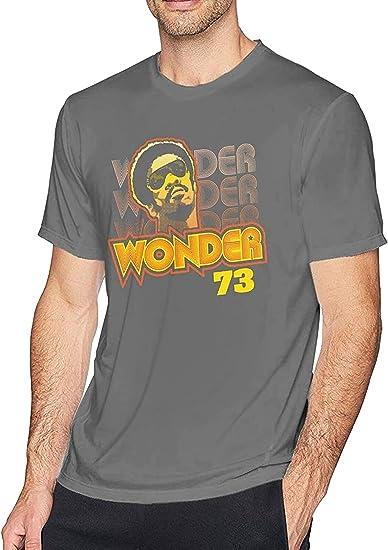 light Saber DUN Stevie Wonder - Camiseta de manga corta con cuello redondo y manga corta para hombre