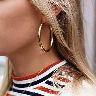 Doubnine Hoop Gold Silver Earrings Dangle Minimalist Women Girls Trendy Everyday Jewelry Gift for Her