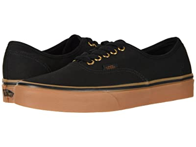 Vans Authentictm Core Classics (Black/Rubber) Skate Shoes