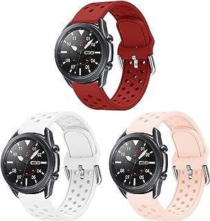 AOTVIRIS Kompatibel med 22 mm armband Galaxy Watch 3 45 mm/Galaxy Watch 46 mm/Gear S3 Frontier/Classic armband Silikon klo...