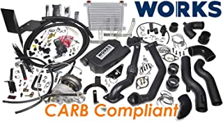 Works 142.211 Stage 2 Turbo Charger Complete Kit with CARB Tune for 2013-2017 Subaru BRZ/Scion FR-S with Automatic Transmission