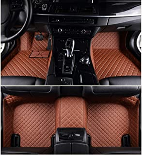 Custom Car Floor Mats for Toyota Corolla 2007-2013 Full Surrounded Waterproof Anti-Slip All Weather Protection Leather Material Car mat Carpet Liners Interior Accessories Brown