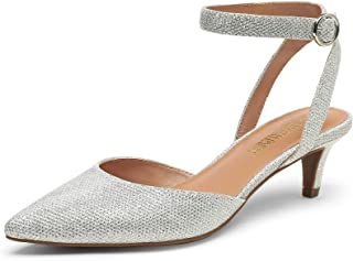 Low Heels for Women Wedding Dress Closed Toe Pump Shoes