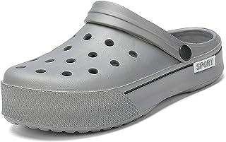COOPCUP Zuecos de los hombres de EVA Sandalias de jardín Zuecos suaves Zapatillas de playa Casual Plataforma Hombre Zapato...