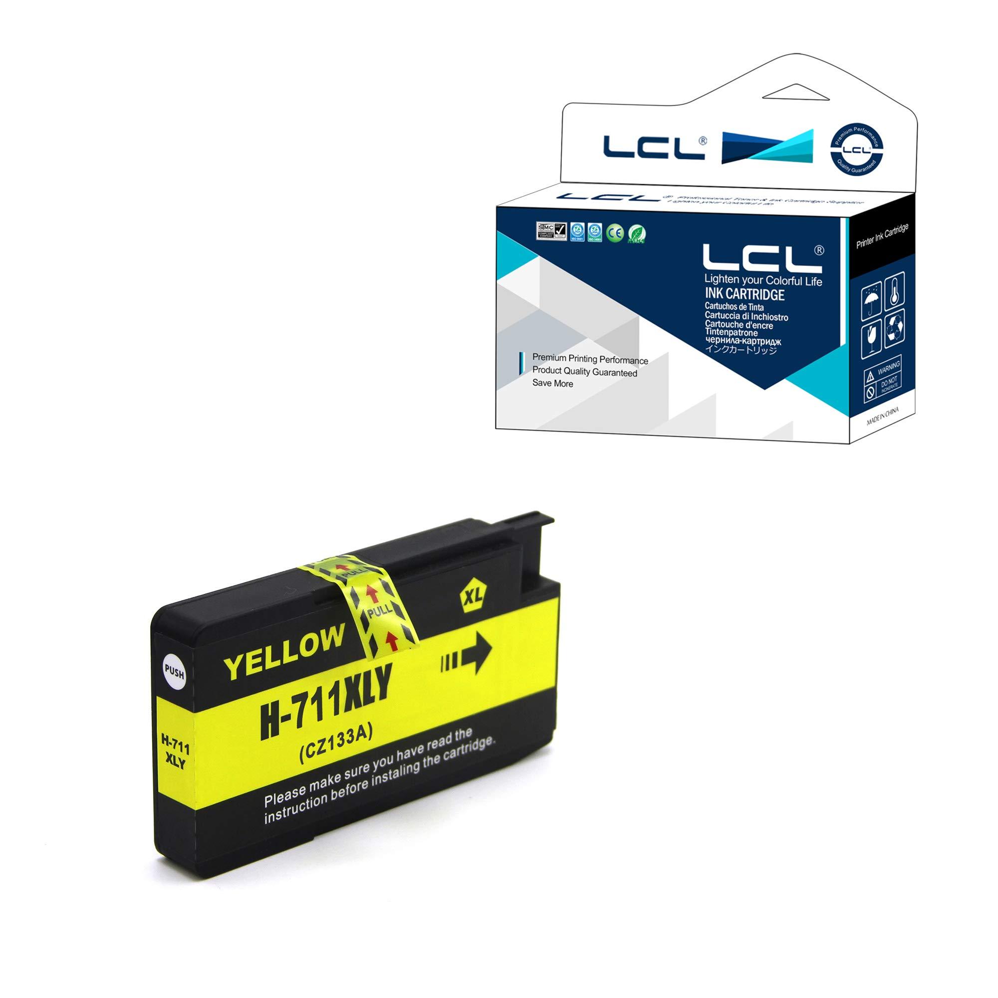 LCL Cartucho de Tinta Compatible 711XL 711 XL CZ132A Pigment (1Amarillo) Reemplazo para HP Designjet T120 24 T120 610 T520 24 T520 36 T520 610 T520 914: Amazon.es: Electrónica