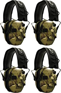 Walkers Razor Slim Electronic Shooting Muffs 4-Pack Bundle, Multi Cam Camo Tan (4 Items)