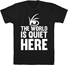 LookHUMAN The World is Quiet Here Black Men's Cotton Tee