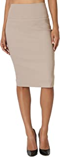 TheMogan Slim! High Waisted Pencil Knee Skirt Office Evening Suiting S~3XL