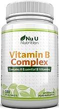 Vitamina B Complex | 180 Comprimidos (Suministro para 6 meses) | Contiene Ocho Vitaminas del grupo B por Comprimido: B1, B2, B3, B5, B6, B12, D-Biotina y Ácido Fólico | Complejo Vitamina B