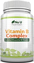 Vitamin B Complex 180 Tablets 6 Month Supply | Contains All 8 B Vitamins in 1 Tablet, Vitamins B1, B2, B3, B5, B6, B12, Biotin & Folic Acid | High Strength Vitamin B Complex | Vegetarian & Vegan