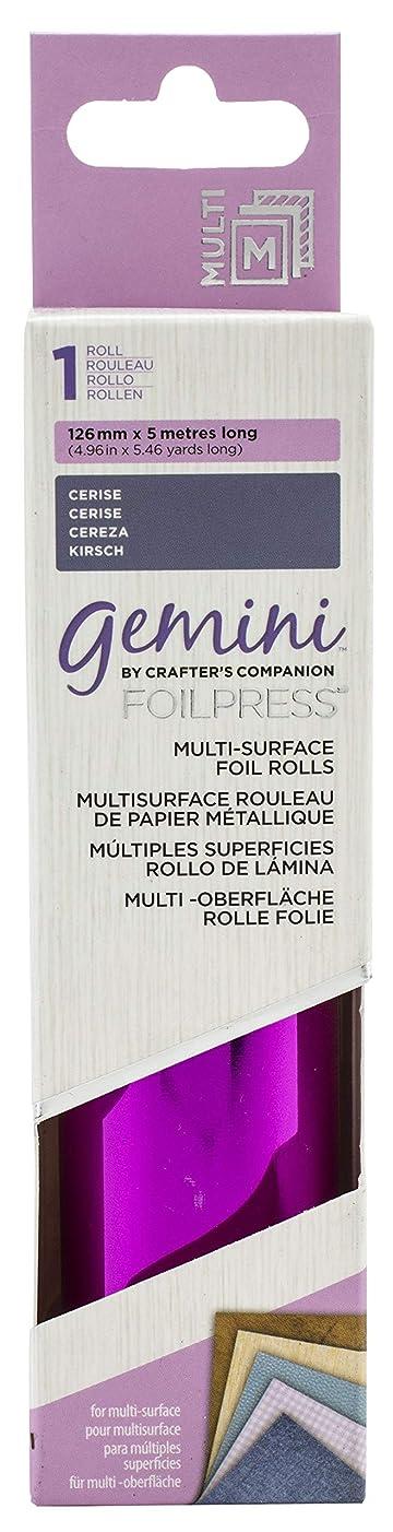 Crafter's Companion FOILMS-CER Gemini FoilPress Multi Surface Foil Roll-Cerise,