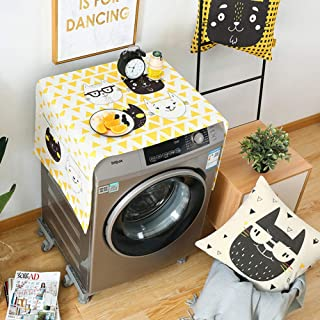 Alician Cartoon Pattern Printing Dust Cover for Washing Machine Refrigerator Carter Family 55140cm
