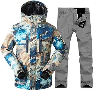 Men Ski Suit Windproof Waterproof Outdoor Sport Wear Winter Jacket Pant Skiing Snowboard Clothing Trouser Suit
