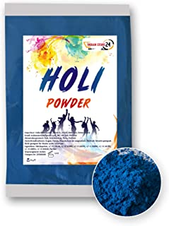 INDIAN STORE 24 Holi Gulal Pulver wasserlöslich Natural Festival Fotoshooting Rangoli Colors Regenbogen Powder holy farbbeutel Glitzer Farbpulver Fotos Blue ,blau