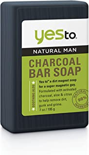 Yes To Natural Man Charcoal Bar Soap, 7 Ounce