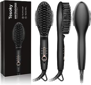 Tesoky Cepillo eléctrico alisador de pelo con tecnología iónica, Cepillo Plancha Antiestático Para el Cabello Grueso/Delgado/Fino/Ondulado/Rizado