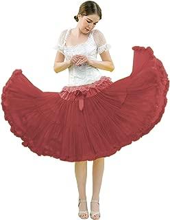 FOLOBE Women's Tutu Costume Ballet Dance Puffy Skirt Adult Luxurious Soft Chiffon Petticoat Tulle Tutu Skirt